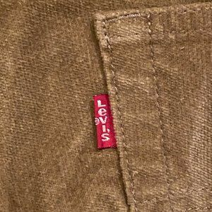 NWT Levi's 505 Red Tab Velour Jeans